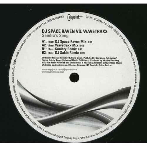 Dj Space Raven vs Wavetraxx - Sandra's Song