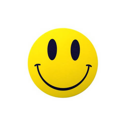 Slipmat Smiley (pair)