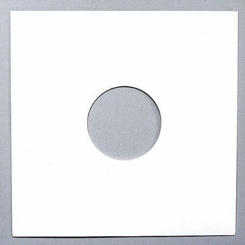 """Portada genérica blanca para vinilo 12"""" con dos agujeros (Sin lomo)"""