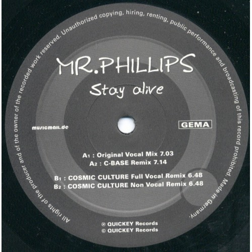 mr phillips - stay alive